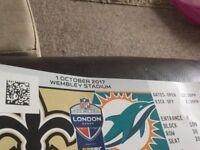 1 X Ticket New Orleans saints v Miami Dolphins oct 1st Wembley