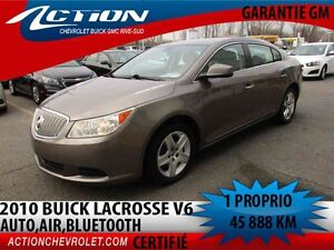 2010 BUICK LACROSSE CX AUTO,AIR,V6,BLUETOOTH