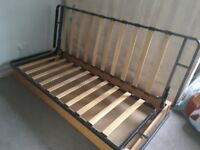 Ikea sofa settee.One cracked slat.No mattress,otherwise in good condition.