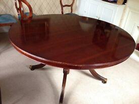 5' Round Mahogany Dining Table