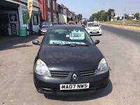 RENAULT CLIO CAMPUS 1.1 PETROL 12 MONTH MOT 100 K MILES 2007 £795
