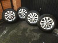 VW T5 Transporter alloy wheels with matching Hankook tyres