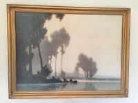 Framed Painting by A Jacob of La Seine Placide (print)