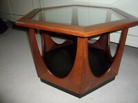 Vintage G Plan hexagonal side / coffee table