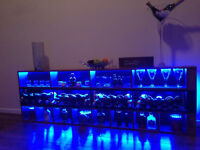 Bespoke LED BAR complete w/ GLASSES, Champages & SPIRITS (swaps accepted: Iphone, xbox,notebook