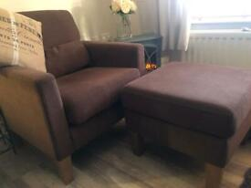 Arm Chair & Footstool