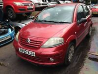 2002 Citroen C3 1.4 SX 5dr burgundy red manual BREAKING FOR SPARES