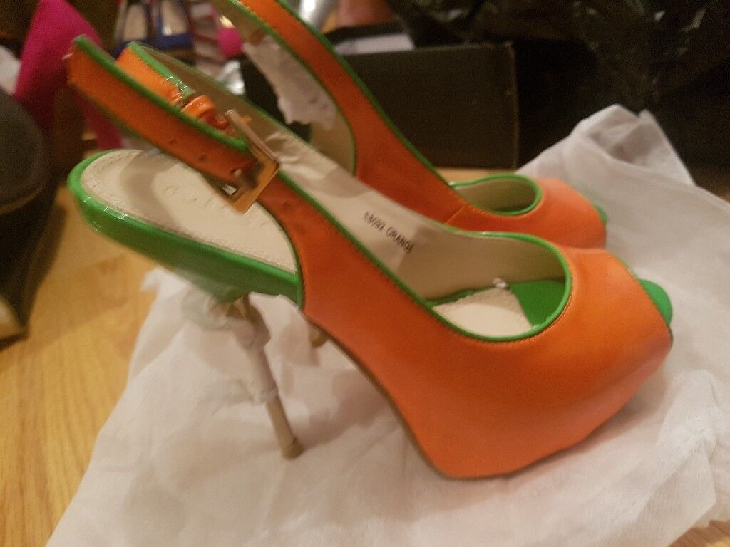 Ladies, High Heels, Size 4, All Colours Ladies shoes, Orange and green