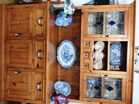 Large rustic dresser made from reclaimed wood.