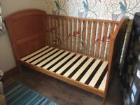 Cotbed (can be converted to bed) with drawer