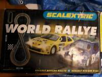 Scalextric World Rallye Renault Megane set. Not complete-see details.