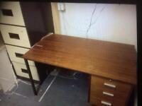 Desk and filling cabinet for sale