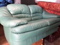 Real leather sofa 2 Seater nice condition