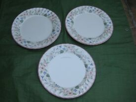 Three Myott Meakin Spring Fields by Jenny Rhodes 30 cm Earthenware Dinner Plates for £5.00