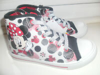 GIRLS NEW MINNIE MOUSE BOOTS / HIGH TOPS / TRAINERS SIZE 10 NEW WITH TAGS