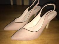 Smoky Pink Ladies Shoes from Next - Size 6
