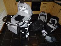 Pram Comodo Coneco 3 in 1 ( stroller , car seat )