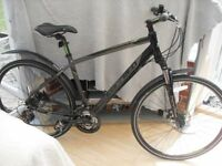 ADULTS GOOD QUALITY CARRERA CROSSFIRE HYBRID SUSPENSION MOUNTAIN BIKE WITH DISC BRAKES IN VGC