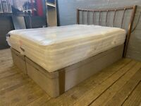 KING SIZE OTTOMAN BED BASE LOTS OF STORGE WITH BESPOKE UTOPHIA MATTRESS AND HEADBOARD