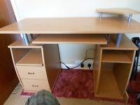 Beech Efect Computer Desk