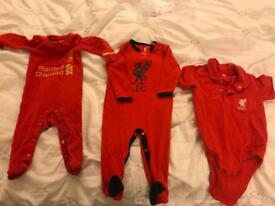 Unworn official LFC Liverpool baby grows- many sizes!