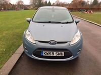 2010 (59) FORD FIESTA 1.4 TITANIUM 95 FULLY LOADED ALLOYS AUTO LIGHTS WIPERS AC VOICE ACTI MET BLUE