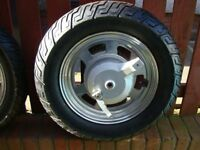 MOTORCYCLE WHEELS & TYRES VERY GOOD CONDITION