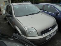 FORD FUSION 3 1399cc TDCI TURBO DIESEL 5 DOOR HATCH 2004-54, SILVER, 88K FROM NEW,