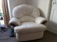 3 Pieces Leather Recliner