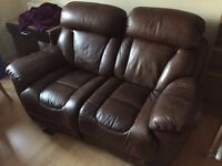 2-seater electric-recliner leather sofa