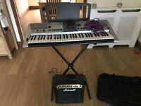 Yamaha PSR-E413 Electric Keyboard & 45W Marshall Amp