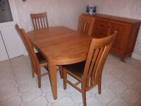 Dining Table, 6 Chairs and Sideboard