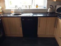 kitchen units and Beko appliances