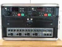 DENON-DN/2700F MK 111-DOUBLE CD PLAYER with CARLSBRO COBRA PA 100 AMP in a genuine SKB FLIGHT CASE