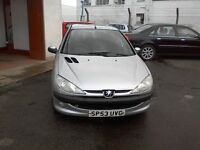 *** FREE DELIVERY *** 2003 PEUGEOT 206 1.1L PETROL 5 DOOR * READY TO GO * MOT TILL FEB 2017 *