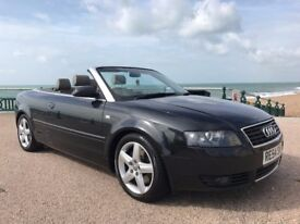 AUDI A4 CONVERTIBLE 2.5 TDI FULL HEATED LEATHER, FULL S/H NEW BRAKES ALL ROUND