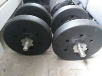 Dumbell VINYL Weights EACH WEIGHT 10KG 4 x 5KG PLATES