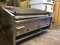 Commercial Archway Charcoal Grill Long Classic 3 Burner Long Shape With Lavarock Kebab Restaurant