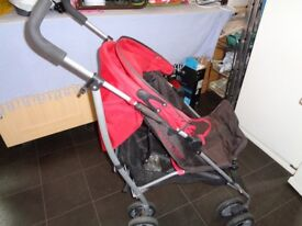 Nice Mammas and Pappa red and brown stroller great bargain