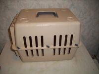 Small Plastic Pet Carrier H 31 x w 31 x d 40 cm