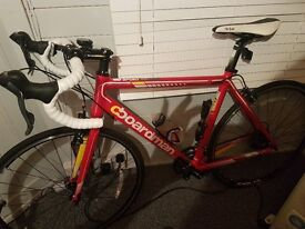 Chris Boardman sport racing bike, red, only ridden a handful of times since brand new, exc condition