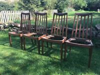Set of 4 mid century G PLAN dining chairs