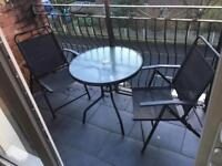Patio table and 2 decking chairs £50 ONO