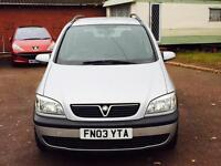 Vauxhall Zafira 7 seater long mot came belt changed 595