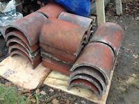 Reclaimed half round ridge tiles - £1 ea