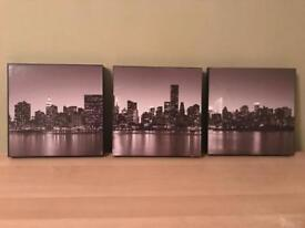 New York themed set of 3 frames