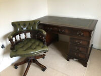 Reproduction desk and captain's chair