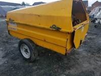 Western 1100 litre bunded diesel bowser trailer with filling hose and nozzle tractor digger etc
