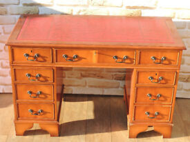 Burr stylish 3 part desk red top (Delivery)