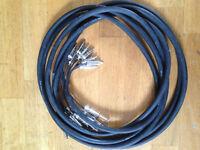 "8 Way Recording Loom With 1/4"" Mono Jack Plugs - Phono (black, 6m)"